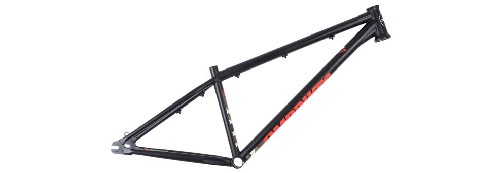 Matte black dirt jump frame