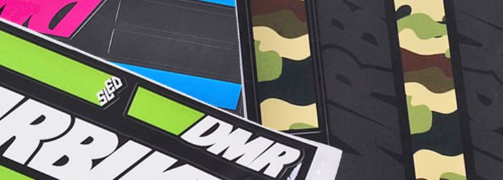 DMR SLED graphic kits for mountain bikes and dirt jump bikes