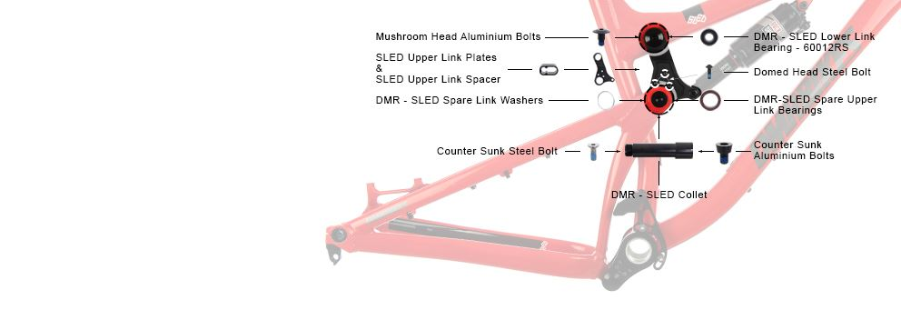 DMR - Sled - Upper Link Kit