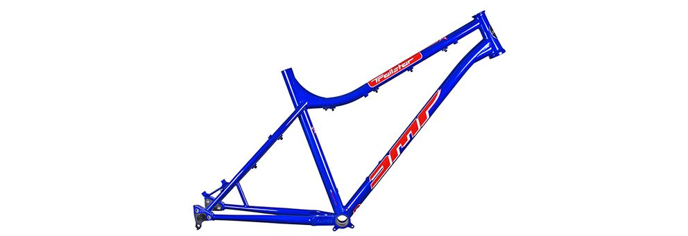 Blue DMR Trailstar hardtail frame
