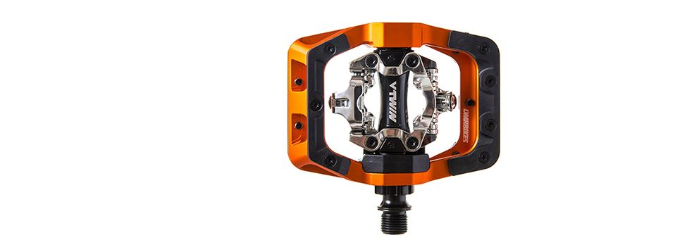 DMR V-Twin Pedal Orange clipless pedals from DMR Bikes