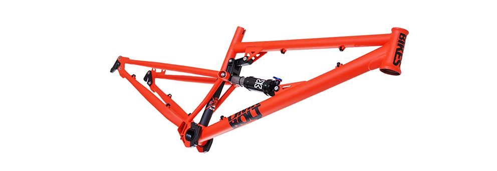 DMR full suspension mountain bike frame