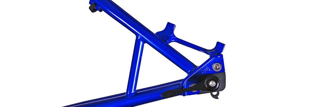 Blue DMR Trailstar hardtail frame dropout