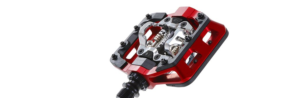 Red DMR V-Twin Pedals from DMR Bikes