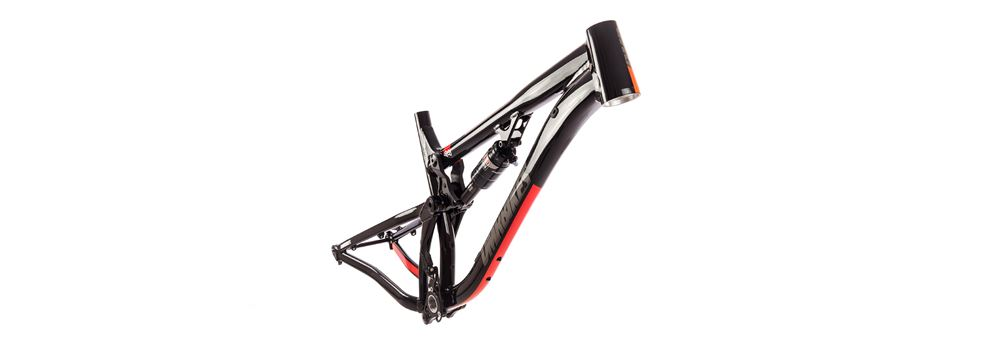 Black DMR Sled full suspension mountain bike frame