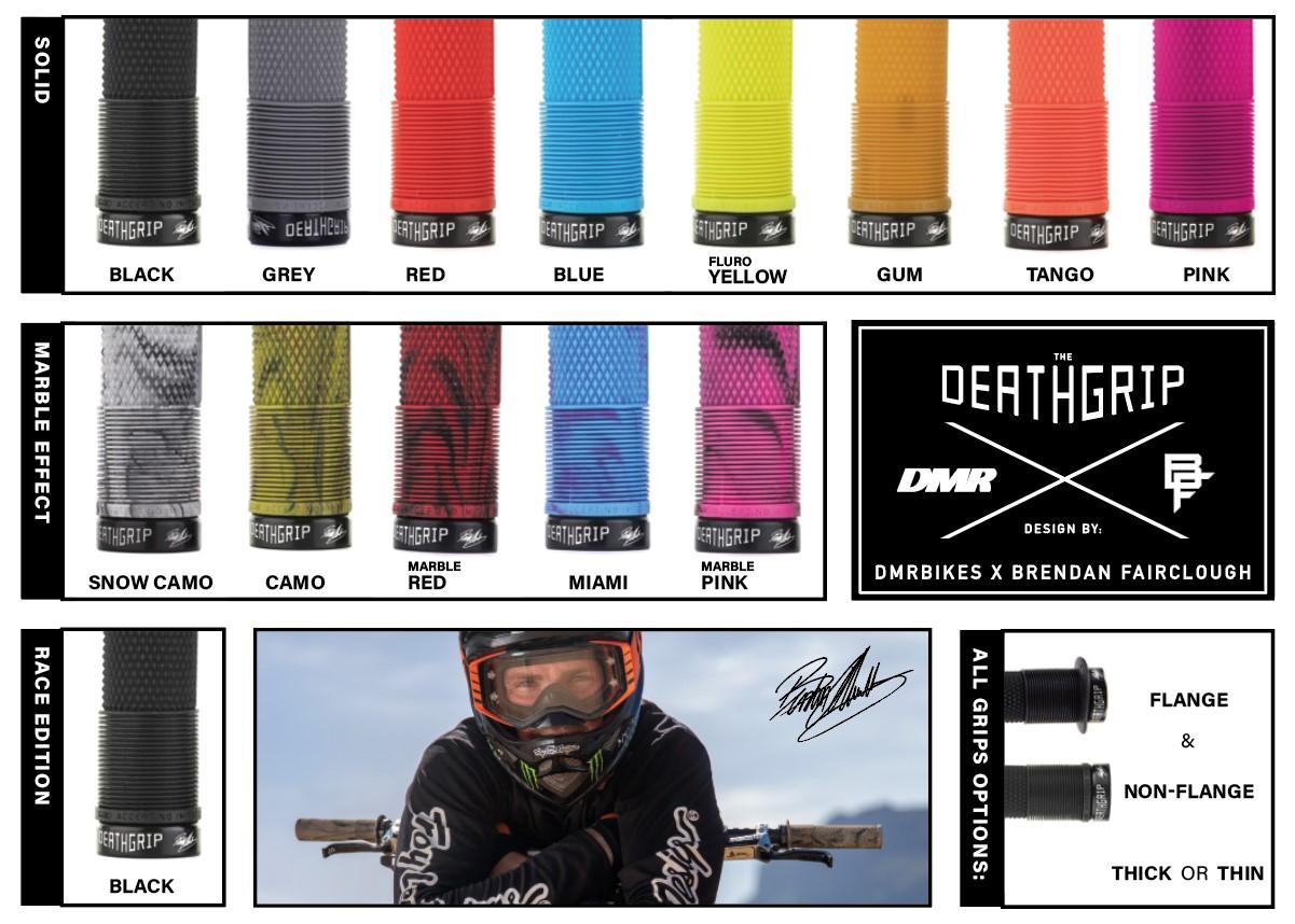 DMR Deathgrip - Brendog Signature MTB Flanged Grip - DMR Bikes